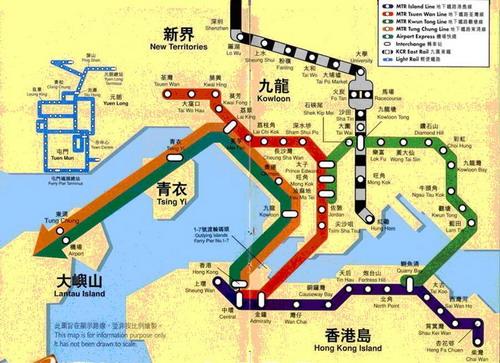现在香港岛的人们要去大屿山岛的赤鱲角新机场,天坛大佛,或者迪士尼